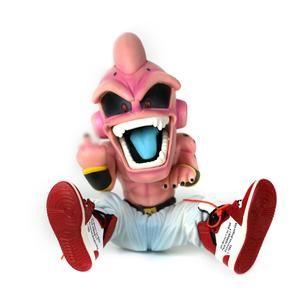Dbz Kid Buu Figure With Sneakers Display Set Dragon Ball Sneaker Displays Dragon Ball Z
