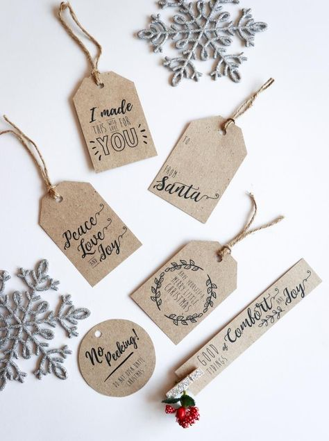 Download your free printable Christmas gift tags to brighten up your Christmas gifts this festive season! Simply print and cut out the tags at home.