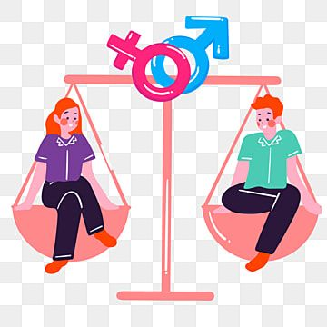 Cartoon Hand Drawn Libra Gender Equality Illustration Libra Justice Equality Png And Vector With Transparent Background For Free Download How To Draw Hands Cartoon Illustration Gender Equality Poster