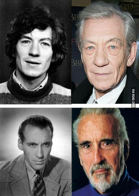Ian Mckellen And Christopher Lee When They Were Young Ian Mckellen Sir Ian Mckellen Friends Actors