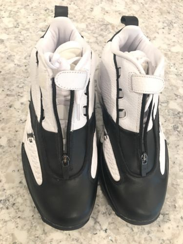 254a2b7b7d9ed4 Reebok Answer 1V Allen Iverson 9 1/2 Basketball Shoes Sneakers Black White  DMX