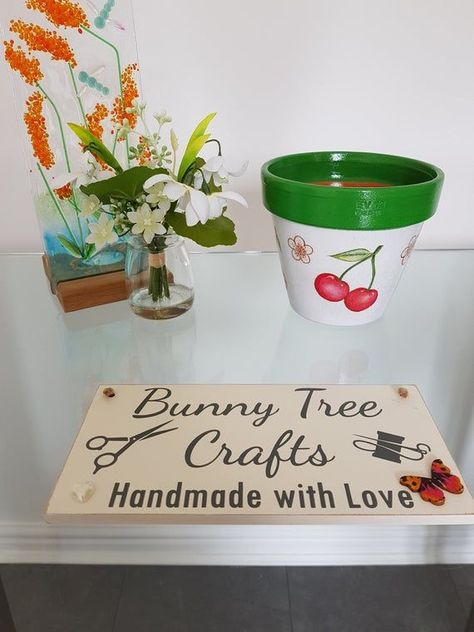 Photo of Decorated Plant Pots, Flower Pots, Cherry Pot, Gardening Gifts, Thank You Gifts, Cherry Gifts, Birth