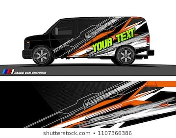 c0532e2a25 Cargo van Livery graphic vector. abstract racing shape with grunge  background design for vehicle vinyl wrap