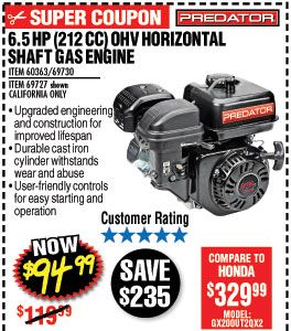 harbor freight predator engine coupon