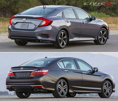 Pin By Allnewhondacivic 2016 On Honda Civic Vs Accord Comparison Cars