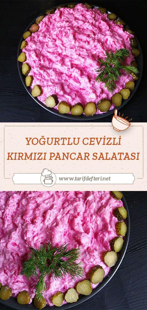 Yoğurtlu Cevizli Kırmızı Pancar Salatası Tarifi Tarif Defteri Yemek Tarifi Pancar Pancar Salatası Pancar Salatası Tarifleri