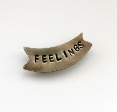 FEELINGS Banner Pin by Thora Ford