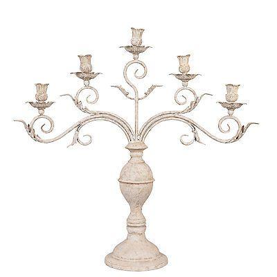 XXL Kerzenleuchter Barock Altarleuchter Kerzenständer Kerzenhalter Antik silber
