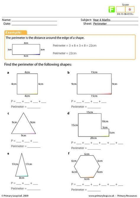Year 4 Maths: Perimeter worksheet | Matematica | Year 4 ...
