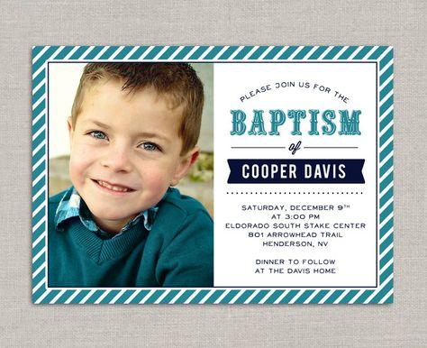 Lds Baptism Invitation Cooper Invitation Designs Pinterest