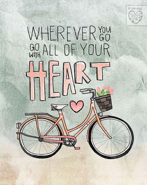 Wo auch immer Sie gehen gehen mit All Your Heart von vol25 auf Etsy