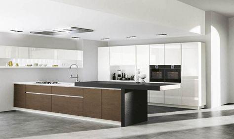 Moderne Küche Design kochinsel holzfront Serie Domus Küchenideen - küche ohne griffe