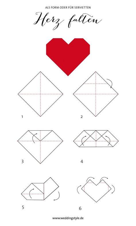 Origami heart fold as a bookmark or napkin  #bookmark #heart #napkin #origami