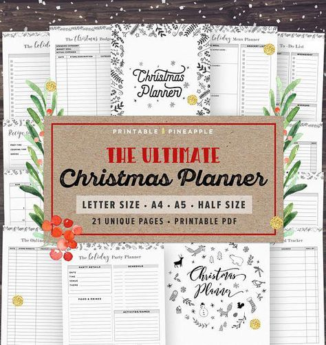 list of pinterest party planning printable planners new years