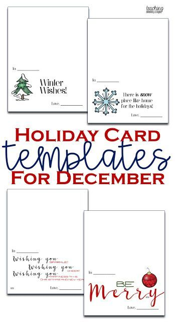 Holiday Card Templates Teaching Elementary Beyond Holiday Card Template Holiday Photo Cards Template Teacher Cards