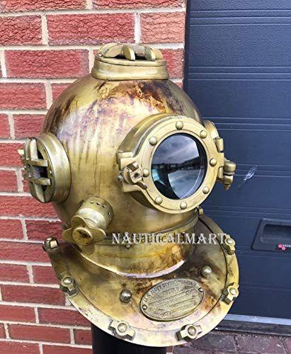Antique Scuba SCA Divers Helmet US Navy Mark V Deep Sea Marine Divers