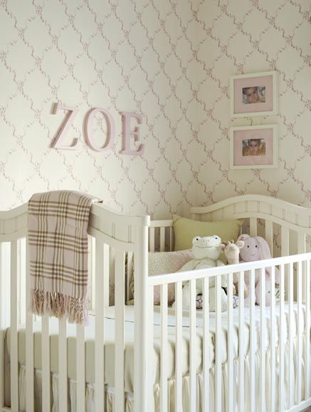 baby girl nursery by Massucco Warner Miller- light pink plaid blanket and  light colors with it. cute | new apt | Pinterest | Nursery, Bedrooms and  Babies
