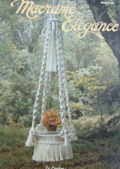 Macrame Patterns/ Vintage Macrame Elegance/ hanging table, plant hangers, towel hanger, swing, wall hanging, owl, home decor, retro by RedWickerBasket on Etsy
