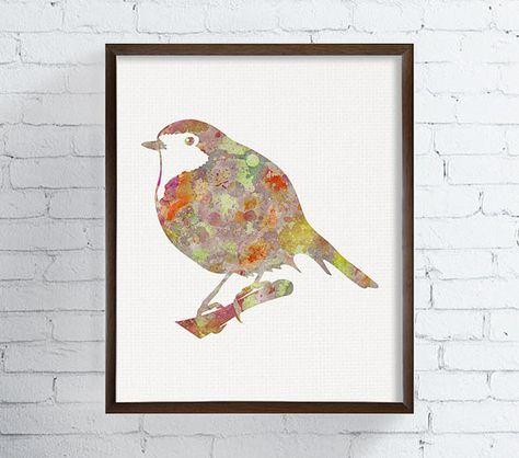 Bird Art Print Watercolor Birds Bird Watercolor by MiaoMiaoDesign