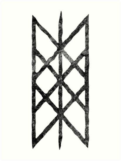 Buy Web Of Wyrdblack Rune By Grizzlygaz As A T Shirt Classic T Shirt Norse Mythology Vikings Tattoo Viking Symbols Norse Symbols Runes