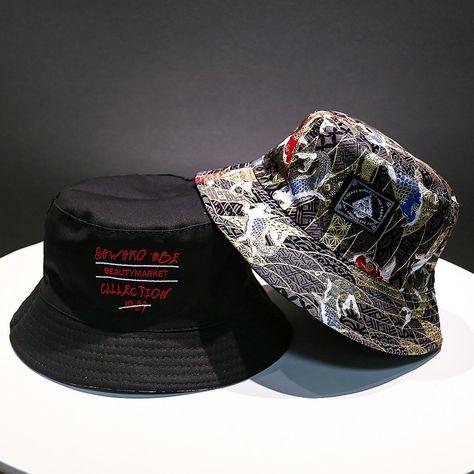 30209173 Soft Bucket Hat Man Women Outdoor Sports Hip Hop Cap Floral Double Side  Summer Cotton Fishing