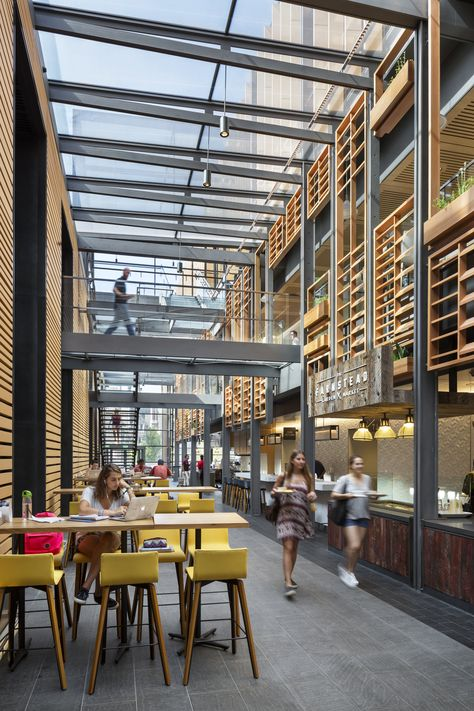 Striking glass atrium updates historic student union at Duke University
