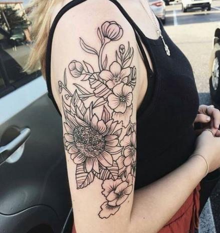 New Tattoo Sleeve Girl Black And White Life Ideas Tattoo Upper Half Sleeve Tattoos Flower Tattoo Sleeve Sleeve Tattoos For Women