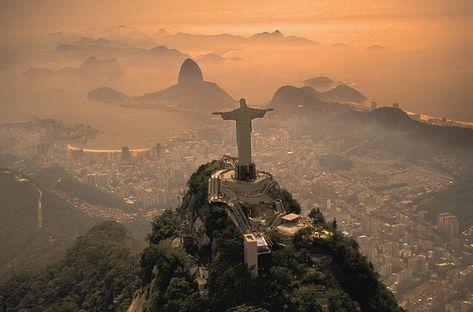 Jesus In Rio. Art Print by Christian Heeb.