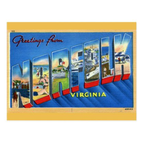 Greetings From Norfolk Virginia Postcard Remember The Day When Vintage Retro Postcard Travel Antique Postcard Funny Vintage Ads Norfolk Virginia