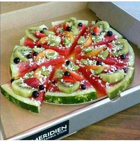 Wassermelonen Pizza