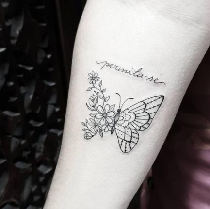Trendy tattoo butterfly geometric design Ideas #tattoo