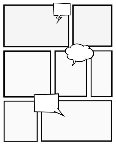 Comic Book Template Pdf Comic Strip Template With Images Comic