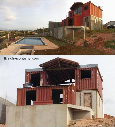 Shipping containers 588353138807973434 - Wonderful Veranda Shipping Container House – USA – Living in a Container Source by moniquecatllar Cargo Container Homes, Shipping Container Home Designs, Building A Container Home, Container Buildings, Container House Plans, Container House Design, Shipping Containers, Container Cabin, Container Store