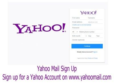 Yahoo Mail Sign Up Sign Up For A Yahoo Account Www Yahoomail Com Bingdroid Mail Sign Mail Account Email Application
