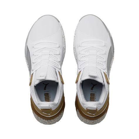 PUMA Uproar Core Men's Basketball Shoe Sneakers in White/Metallic Silver size 10.5