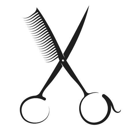 Silueta De Tijeras Y Peine Para Peluqueria Y Salon De Belleza Logos De Peluqueria Tijeras Peluqueria Diseno De Barberia