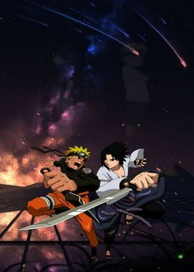 Metal Poster Naruto Sasuke
