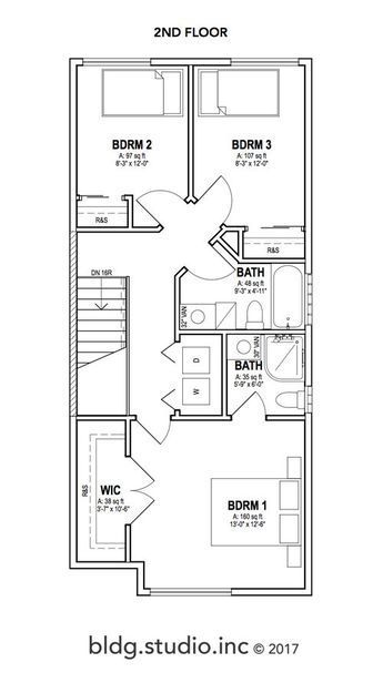 Plan 2 114 Think Bldg Studio Inc Two Storey House Plans 20x40 House Plans Duplex Floor Plans