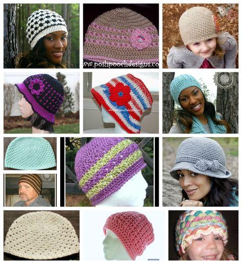 FREE #Crochet Chemo hat patterns complied by ELK Studio
