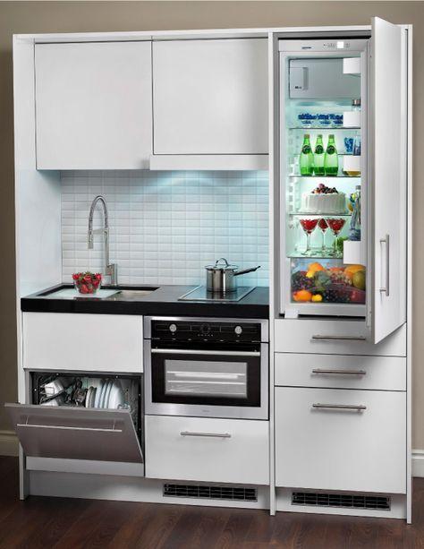 Euro Line Appliances Kompakt Kitchen En 2020 Cocinas Pequenas