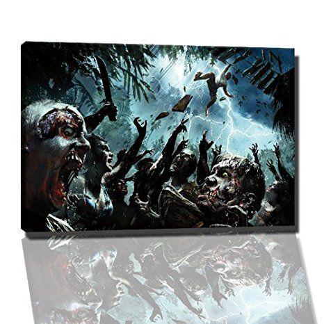 40X80 cm// 2989 Gruseln Schrecklich Bild auf Leinwand Horror