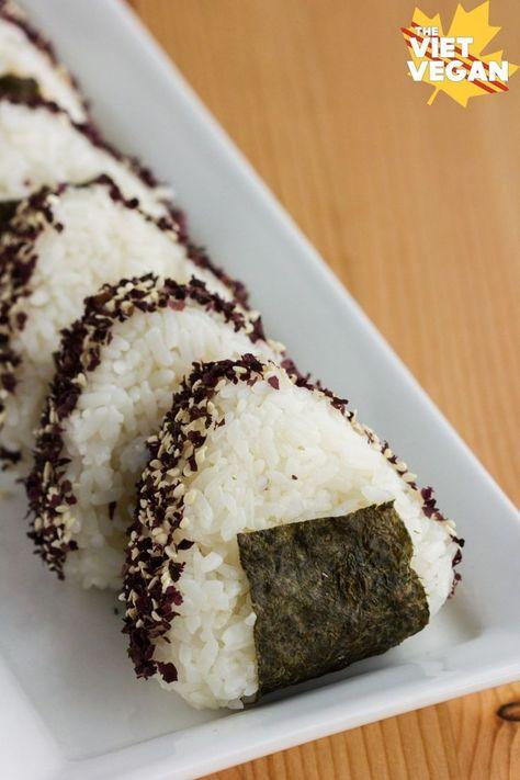 Vegan Miso Dulse Onigiri The Viet Vegan Recipe Onigiri Recipe Food Onigiri