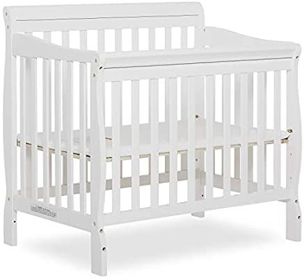 Amazon Com Dream On Me Aden 4 In 1 Convertible Mini Crib White Baby In 2020 Mini Crib Cribs Adjustable Bed Base