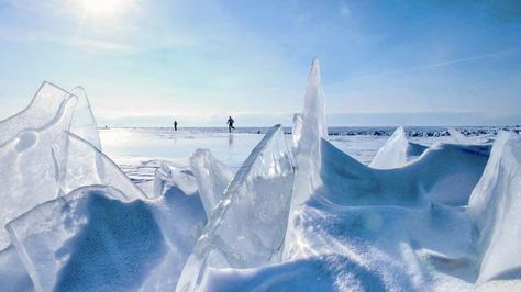 Baikal Ice Marathon in Siberia.