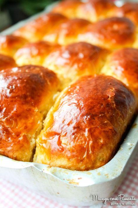 Receita de Bisnaguinhas de leite em Pó, para um café da manhã em especial. Clique na imagem para ver o modo de Preparo no Manga com Pimenta.