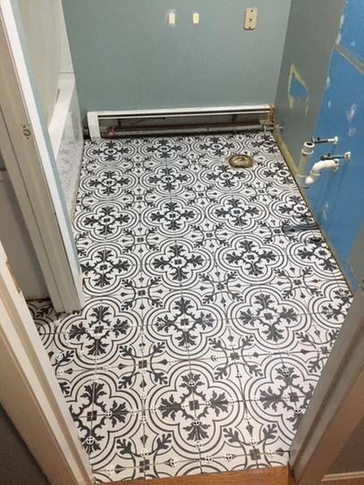 Merola Tile Take Home Sample Twenties Vintage Encaustic Ceramic Floor And Wall 7 3 4 In X Frc8twvt The Depot Flooring Stone