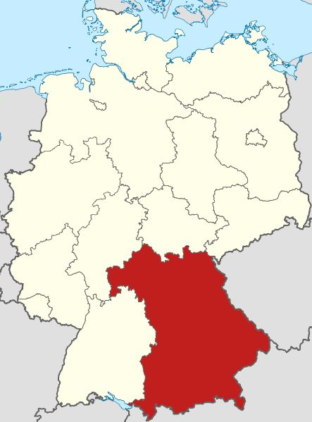 Bayern Karte Duitsland Bavaria