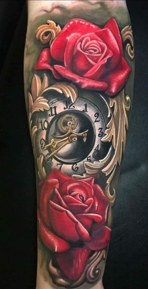 Time Hand Tattoos for Men
