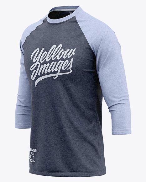 Download Men S Heather Raglan 3 4 Length Sleeve T Shirt Mockup Front Half Side View In Apparel Mockups On Yellow Images Object Mockups Shirt Mockup Clothing Mockup Tshirt Mockup
