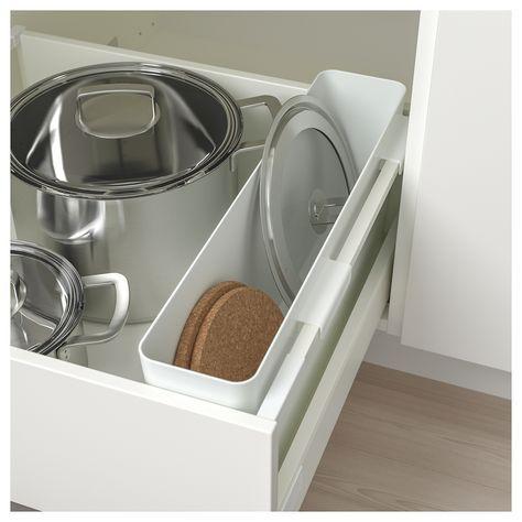 Variera Storage Box High Gloss White 19 5 8x4 3 4 Rangement